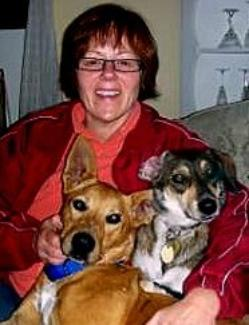 Stacey and her two dogs